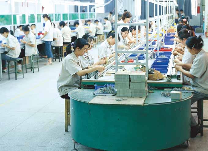 电子芯片插件流水线生产管理